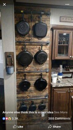 I am a fan of displaying my pans.
