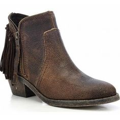 Corral Urban Brown Fringe Shortie Boots  P5121