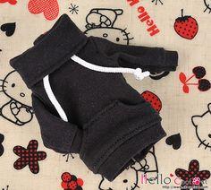 178NH-A02Blythe Pullip Pocket Top Black by HelloCoolCat on Etsy