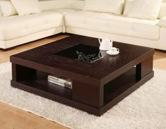 150 DIY Coffee Table designs for living room furniture Center Table Living Room, Table Decor Living Room, Living Room Furniture, Coffe Table, Coffee Table With Storage, Table Storage, Diy Storage, Tea Table Design, Table Designs