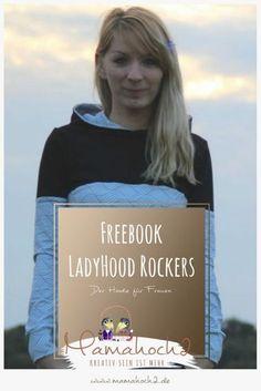 Kostenloses Schnittmuster für einen Damen-Hoodie - das Freebook LadyHood Rockers von Mamahoch2