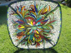 Sunlit table (Fiesta) by Poppins Mosaics and Crafts, via Flickr