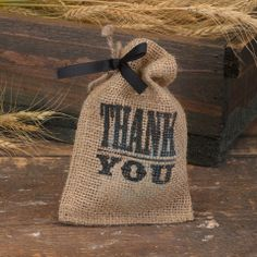 Thank You Burlap Favor Bag (Pack of 25) – Candy Cake Weddings