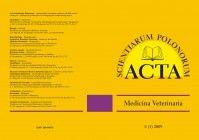 Acta Scientiarum Polonorum - seria Medicina Veterinaria     http://www.aqua.ar.wroc.pl/acta/pl/main.php?p=8=10=32=5=pl
