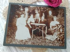 Antique Austrian cabinet photo family outside in the garden Speising, Wien 1906 Abilene Texas, California City, Antique Cabinets, Cute Little Girls, Man Photo, Female Portrait, Photo Cards, Vintage Photos, Family Photos
