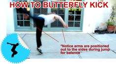 How To Butterfly Kick/ B-Kick - Beginner Tricking - Acrobatics Parkour For Beginners, Animal Flow, Brain Tricks, Martial Arts Workout, Martial Arts Movies, Bmx Freestyle, Dance Tips, At Home Gym, Taekwondo