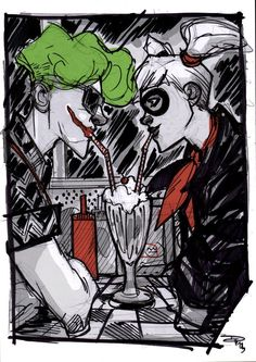 DenisM79's Joker and Harley - Rockabilly Universe. Gotta love Joker's shirt!