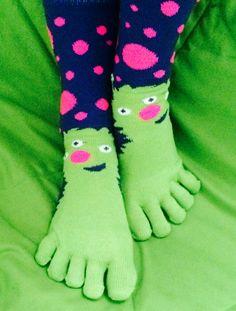 Nude women in carzy toe socks #14