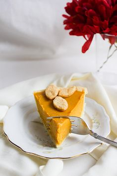 melt in your mouth pumpkin pie; the secret is extra egg yolks, evap milk, and a lot of melted butter in the batter; pie has a custard or flan-like texture, and that what makes it melts in your mouth, along with the flaky and buttery crust