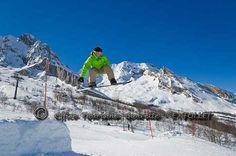 Snowpark de Gourette.