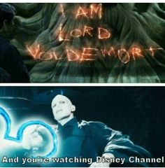 """Harry Potter << This is perfect, and I love the Disney Channel meme with Loki as well, but there also needs to be a Severus Snape one. """"I'm the Half-Blood Prince, and you're watching Disney Channel. Harry Potter Humor, Harry Potter World, Harry Potter Funny Tumblr, Harry Potter Stuff, Harry Potter Friendship Quotes, Harry Potter List, Harry Potter Imagines, Harry Potter Universal, Memes Humor"""