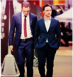Michael Fassbender & James Macavoy at the same time...OH LA LA