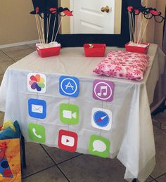 iPhone / iPad - - New Ideas Preteen Birthday, Sleepover Birthday Parties, Birthday Party Decorations, Party Themes, Party Ideas, Girl Birthday, Birthday Ideas, Party Emoji, Instagram Party