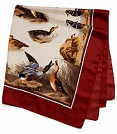 Audubon Silk Scarf by Brooks Brothers -- A breathtaking collection from J.J. Audubon's historic Birds of America.