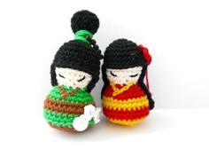 Kokeshi dolls for friends von Aminga auf Etsy