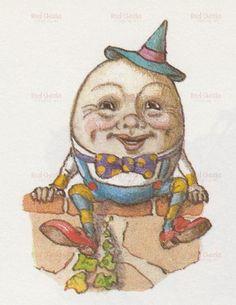 Vintage Images, Vintage Clip, Vintage Books, Vintage Art, Digital Collage, Digital Papers, Digital Scrapbooking, Humpty Dumpty, Mother Goose