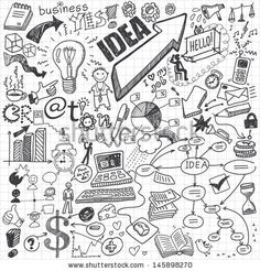 Business Doodles Stock-Vektorillustrationsnummer: 145898270 : Shutterstock