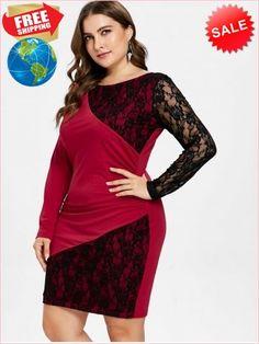 6a26e91634062 Best Prices Plus Size Lace Panel Bodycon Dress 2329366 rQCsbTfkZIejnKJ2W91M  Cheap Sale  RoseGal.com