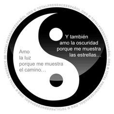 Yin y yang Ying Yang, Yin Yang Art, C G Jung, Frases Tumblr, Osho, Spanish Quotes, Spanish Memes, Peace And Love, Virginia
