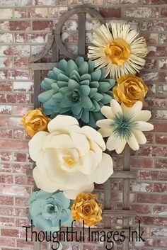 Paper flower display