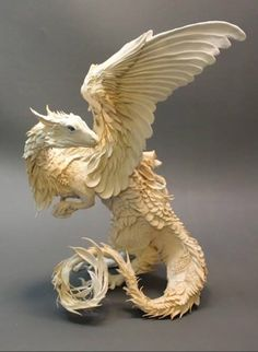 Clay Sculpture of a White Dragon by Ellen Jewett. Just beautiful Clay Dragon, Dragon Art, Dragon Statue, Magical Creatures, Fantasy Creatures, Ellen Jewett, Dragons, Mythological Creatures, Creature Design