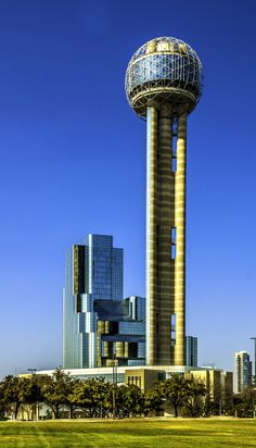 Reunion Tower and Hotel (Dallas, Texas) Dallas Texas, Seattle Skyline, Tower, Explore, Building, Travel, Rook, Viajes, Computer Case