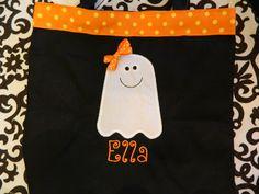 Personalized Halloween Trick or Treat Bag by MoonlightMonograms, $15.99