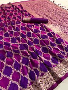 Soft silk saree with rich pallu, saree for women, designer saree, saree blouse, wedding wear saree Handloom Weaving, Saree Blouse, Sari, Blue Saree, Indian Lehenga, Soft Silk Sarees, Beautiful Saree, Wedding Wear, Pakistani Dresses