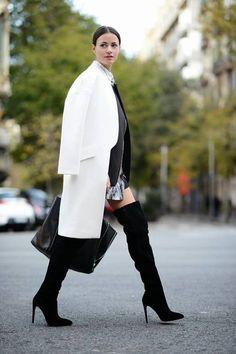2015 kış modası beyaz kaban