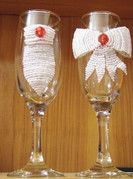 Wedding Glasses (beaded) Wedding Glasses, Flute, Champagne, Tableware, Home Decor, Dinnerware, Decoration Home, Flutes, Dishes