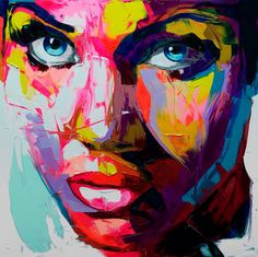 I am so inspired to create some portraits in bright colors. Great example... Françoise Nielly