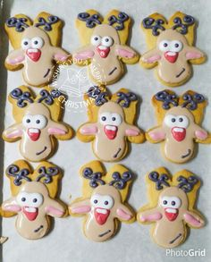 Reindeer icing on homemade butter cookie