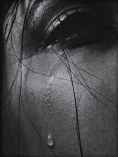 tears | sadness | depression | loss | black & white photography | close up and personal | vulnerability | fragile | fragility | beautiful emotion