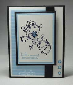 card idea (This is beautiful!  Oh, and change the blue to any other color...Wow!)