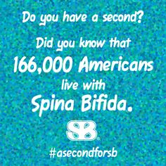 Fact #4 for #SpinaBifida Awareness Month. These are daily facts for you to share as each of you helps spread awareness in your communities. Make sure to tag us and use the hashtag #AsecondforSB.
