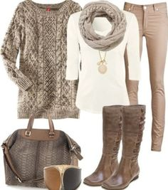 It may be all a brownish color but the outfit is really nice