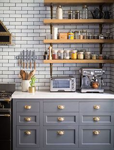 15 Stunning Gray Kitchens - Style Me Pretty Living http://www.stylemepretty.com/collection/277/picture/1580305/