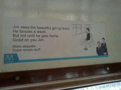 Subway advertising at its best