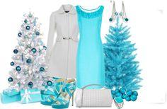 """Teal Christmas"" by laaudra-rasco ❤ liked on Polyvore"
