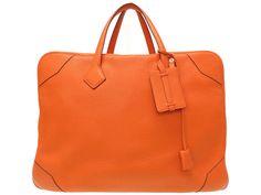 Waist Pouch, Pouch Bag, Hermes Halzan, Hermes Lindy 26, Leather Shoulder Bag, Leather Bag, Cuir Orange, Victoria, Satchel