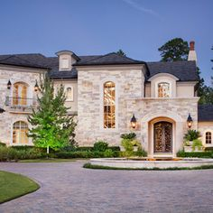 French Modern - mediterranean - Exterior - Houston - JAUREGUI Architecture Interiors Construction