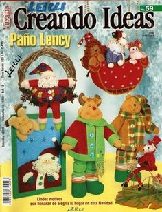 Colección de revistas de manualidades : Revistas Creando Ideas gratis Christmas Books, Christmas Diy, Xmas, Origami, Book Crafts, Craft Books, Softies, Free Books, Album