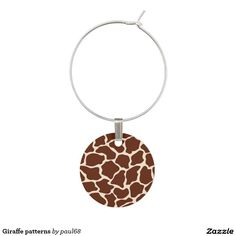 Giraffe patterns wine charms