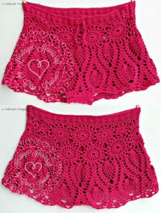 Pineapple Lace Bikini Shorts Pattern