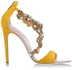 Rene Caovilla Yellow Sandals  | my sexy shoes 1