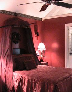 The Crimson Crypt Bedroom