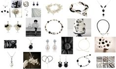 black and white jewellery mood board
