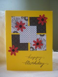 Happy Birthday handmade card by Wrightcards on Etsy