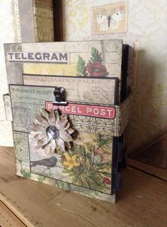 Pocket Page Tim Holtz Wallflower Mini Album Online tutorial