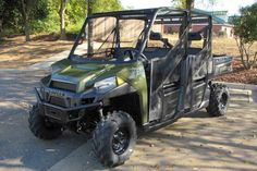New 2017 Polaris Ranger Crew® XP 900 ATVs For Sale in South Carolina. SAGE GREEN High Output 68 HP ProStar Engine Smooth Riding Suspension Travel and Refined Cab Comfort for the Entire CREW Industry Exclusive Pro-Fit Cab Integration